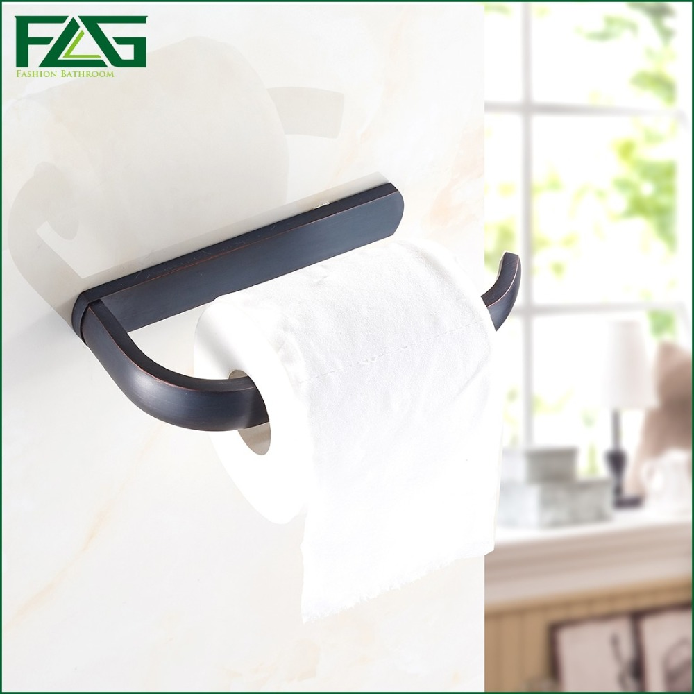 FLG New Luxury Wall Mounted Oil Rubbed Bronze Paper Box Roll Holder Toilet Paper Holder Tissue Box Bathroom Accessories 81304 new luxury oil rubbed bronze bathroom paper shelf holder tissue shelf basket