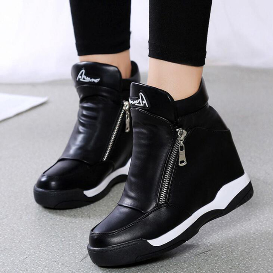 MHYONS Women's Shoes 2019 New Spring And Autumn Women's Round Head Single Increased Women's Shoes Casual Shoes Shoes