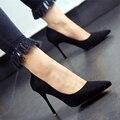 Mulheres Sexy Bombas 2017 Dedo Apontado sapatos de Salto Alto Mulheres Sapatos Sapatos de Singles das Mulheres Simples