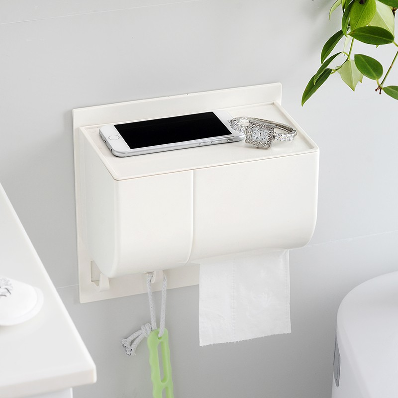 цена Japanese Toilet Toilet Tissue Box Perforated Tissue Box Toilet Book Box Waterproof Toilet Paper Shelf LO61335