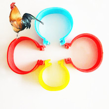 100pcs Poultry Mark Tag Chicken Leg Ring Easy Use Dia 2cm duck goose color foot ring sale chickens training rings open