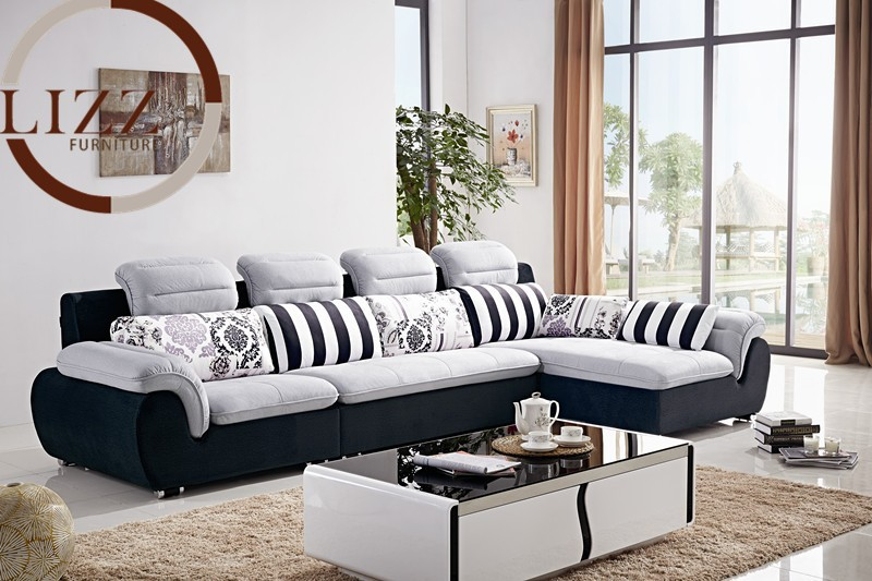 L shaped fabric sofa 20 best collection of l shaped fabric sofas thesofa - Modern living room furniture set ...