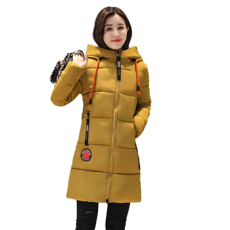 2017new arrival winter women's jacket Hot sate casual warm down cotton female bisic coats plus size hooded Long Parka L52-17807Z