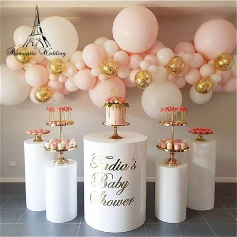 10 pièces grand événement anniversaire décors métal rack support support de gâteau pilier cylindre piédestal pour fête hôtel bar gâteau boutique fleur