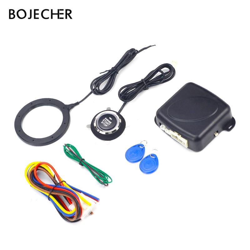 eff9a4cebe8 Auto empezar botón con RFID motor cerradura de encendido de arranque,  entrada remota sin llave, sistema de botón de empuje del motor oculta con  cerradura