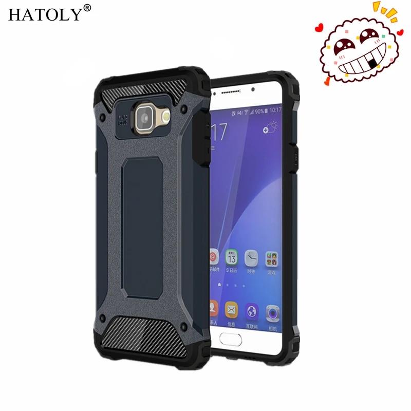 HATOLY For Coque Samsung Galaxy A5 2016 Case Galaxy A5 2016 Heavy Armor Slim Hard Cover Silicone Case for Samsung A5 2016 A510#<