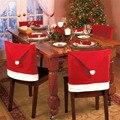 4 Unids/lote Regalo 2015 Rebaño de Santa Claus Sombrero de Navidad Forma de Cubierta de La Silla Decoración Juguete Fuentes Del Partido Del Festival del Ornamento