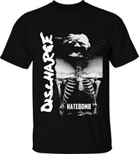 "Décharge T-SHIRT ""hatebombe"" MERCH officiel britannique punk rock hardcore d-beat t-shirts à manches courtes loisirs mode été(China)"