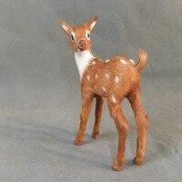 Simulation Animal Sika Deer Model 12x8cm Toy Polyethylene Furs Handicraft Props Christmas Gift Home Decoration Gift