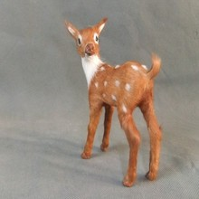 simulation animal sika deer model 12x8cm toy polyethylene&furs handicraft,props,Christmas gift,home decoration gift d0042