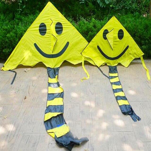 O envio gratuito de alta qualidade 2 m grande rosto sorridente pipa pipa barato nylon ripstop pipa com linha punho pipas papagaio paraglider