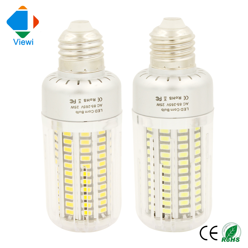 все цены на 5X bombillas led e27 corn bulb 25W 360 Angle home lamp SMD5736 Epistar chip 130 leds 85-265v warm white Pc cover indoor lighting