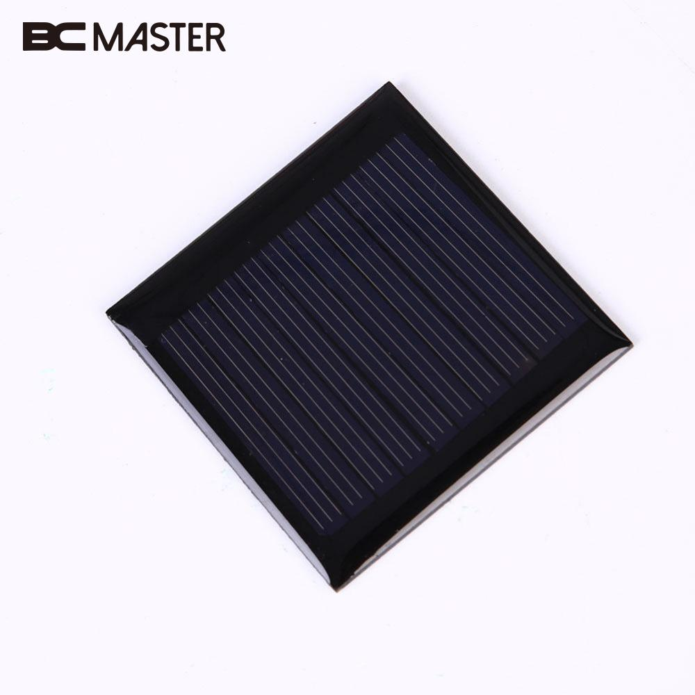 BCMaster Mini 0.25W 5V Solar Panel Polysilicon Epoxy Plate Mini Solar Cell Solar Panel Module For Outdoor Travel phone charger