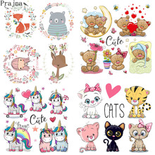 Prajna Cute Bear Baby Patch Iron On Transfer Heat Vinyl Patches For Clothes Thermal Ironing Stickers Cartoon Applique
