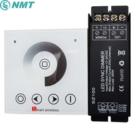 1pcs AC 220V1 Channel Max 25a Wall Mounted RF Wireless Touch Panel Led Dimmer Remote Controller 300w For Single Color Led Light