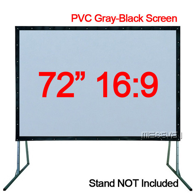 72 inches 16/9 HD Projector Screen Portable Folded PVC Soft Gray ...
