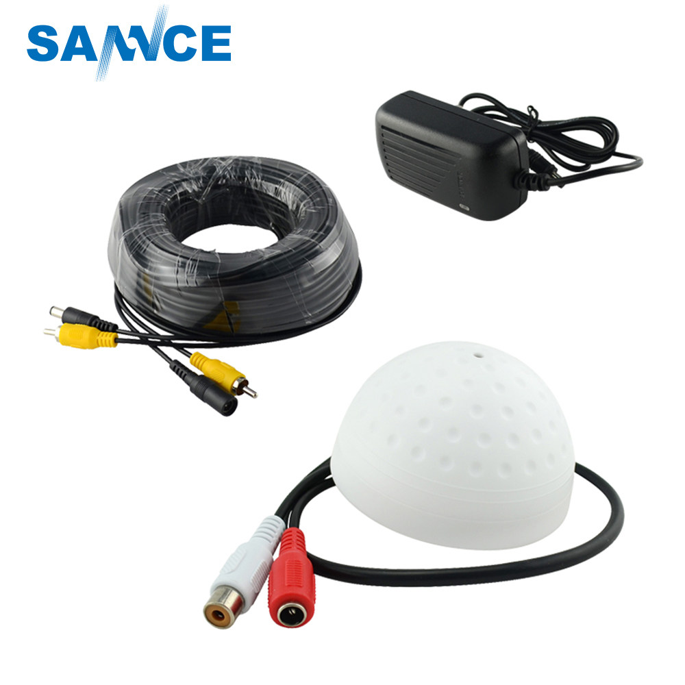 Online Shop Sannce 4 X 100ft 30m Security Camera Video Power Cable Cctv Wiring For Home New Hotting Annke High Sensitive Microphone Rca Audio Mic Dc