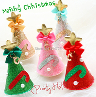 Merry Christmas! dog accessories hat BOWS so beautiful pet hairpin headwear on a clip
