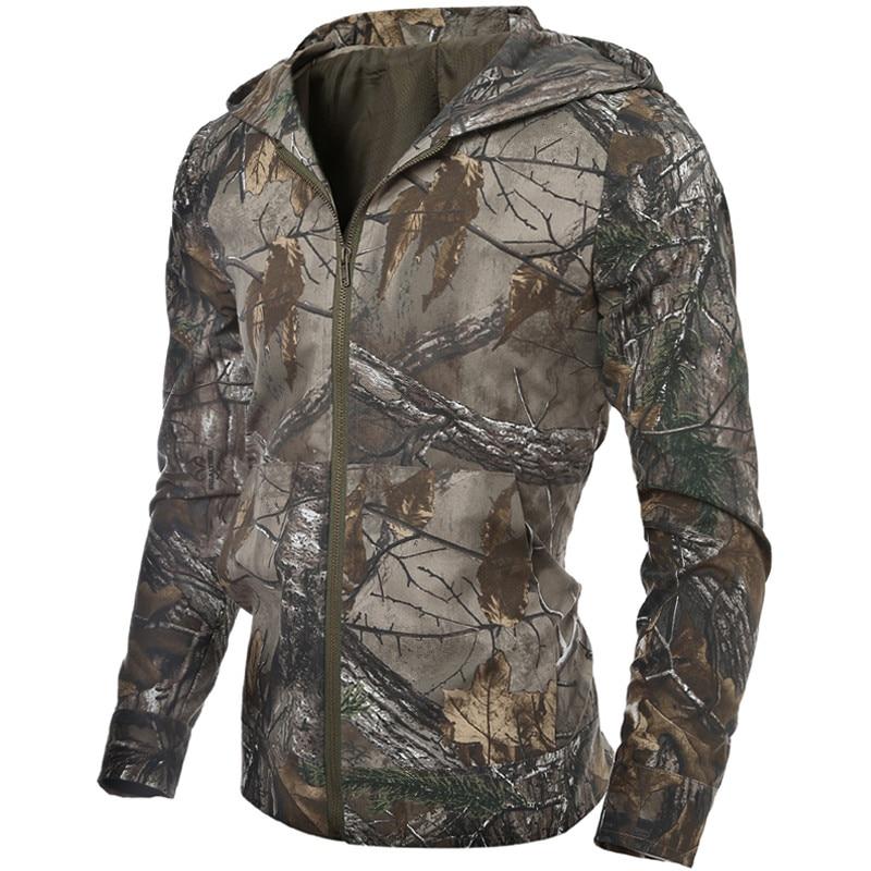 Men/'s Summer Shower Proof Jungle Camo Jacket Hiking Fishing Hunting Coat M-2XL