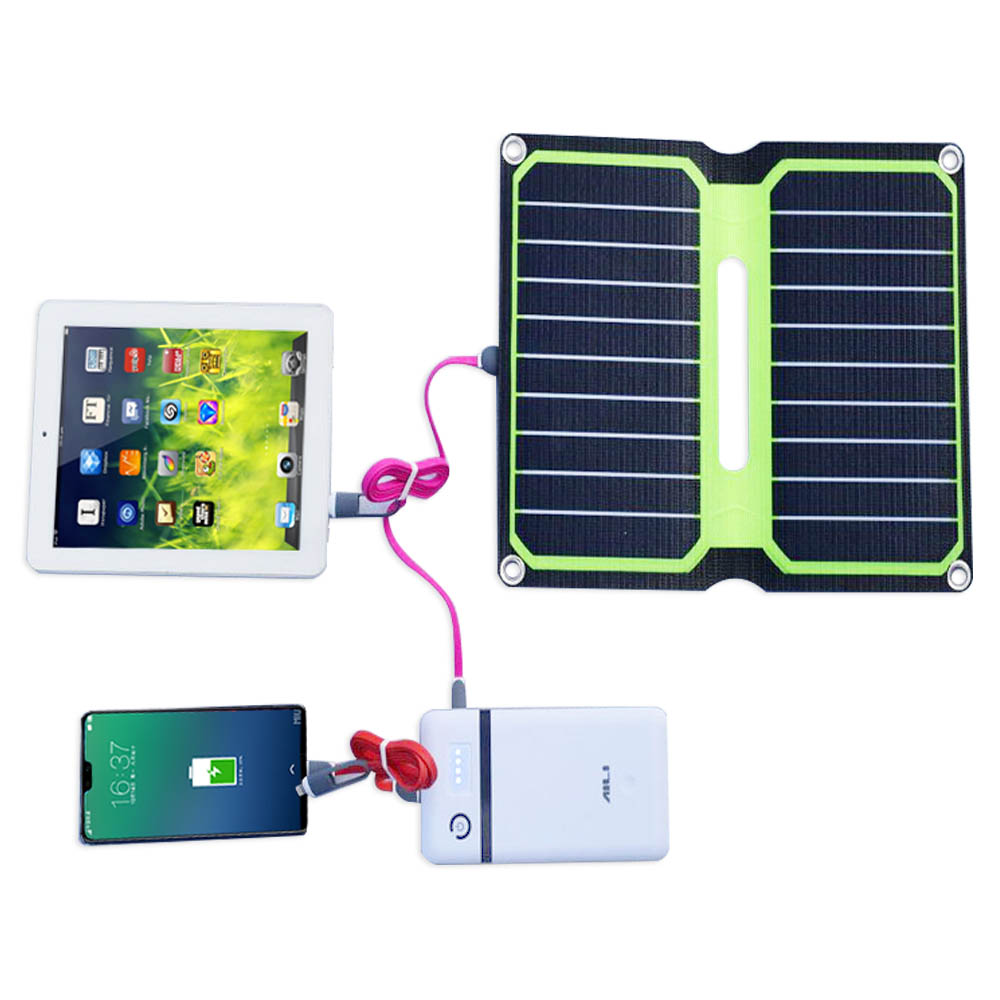 XINPUGUANG 5V 10W ETFE lamianted all-in-one high efficiency portable solar power bank charger USB 12V solar panel cell placa 25w 12v 5v solar panel usb portable power bank board external battery charging solar cell board diy clips outdoor travelling