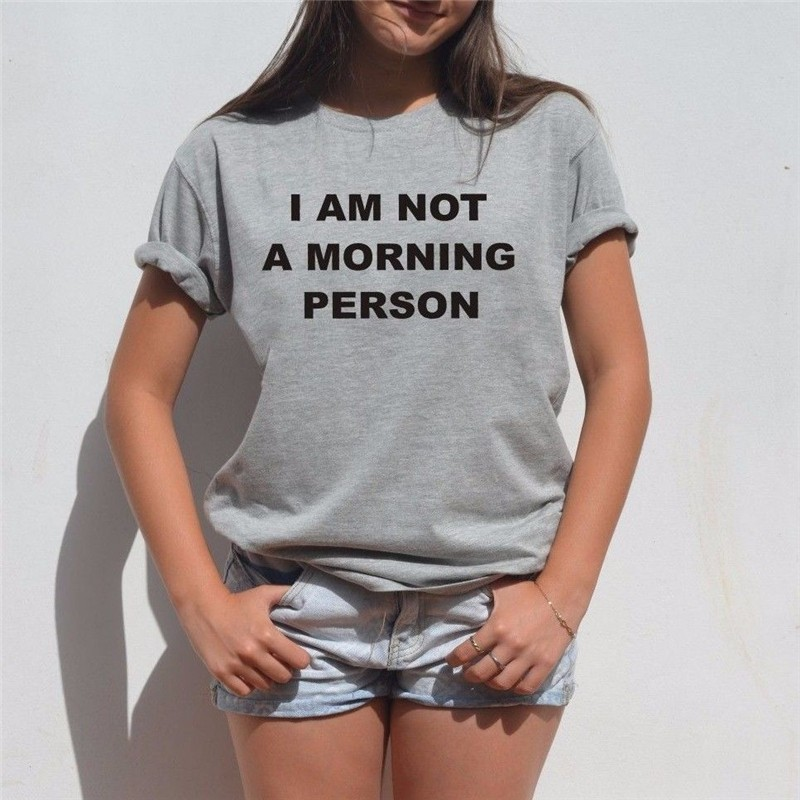 HTB1XkBjLXXXXXbKaXXXq6xXFXXXX - I Am Not A Morning Person Funny T Shirt PTC 85
