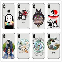 Cute Totoro Spirited Away Ghibli Miyazaki Anime Clear Case For iPhoneXS MAX XS XR 8 8Plus 7 7Plus 6 6S 6Plus 5S Phone Case Cover(China)