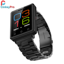 Cinkeypro smart watch hombres g7 sim/tarjeta sd smartwatch podómetro del ritmo cardíaco infrarrojo notificador de sincronización para apple iphone ios android