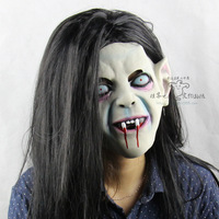 Long Hair Devil Full Head Halloween Mask Scary Ghost Cosplay Prank Prop For Costume Carnival Parties