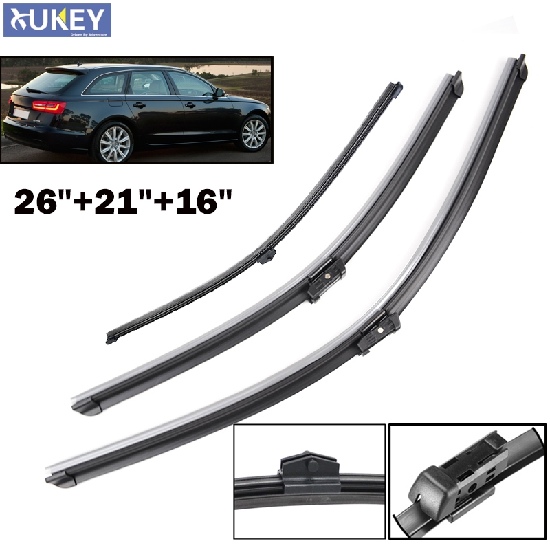 Xukey Front Rear Window Wiper Blades For Audi A6 C7 2011
