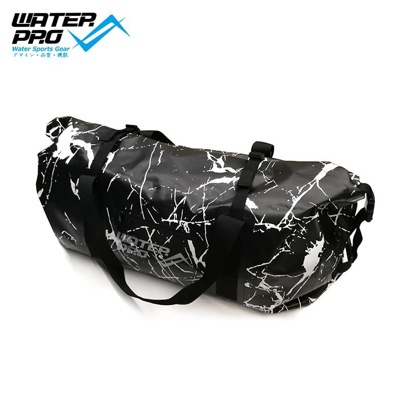 WATERPRO PVC DRY BAG Travel Bag Diving Equipment Bag 80L MARBLE BLACK diving equipment