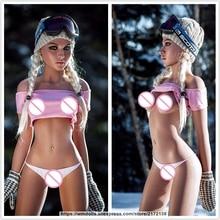 WMDOLL 157cm Sexy Silicone Sex Doll Torso Realistic Adult Doll Artificial Vagina Ass Male  Masturbate Doll