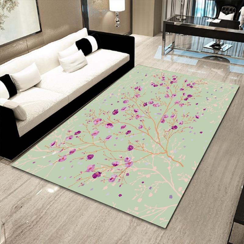 Happy Bedroom Colors Turf Carpet Bedroom Interior Design For Bedroom For Teenagers Blue Romantic Bedroom: Rural Style 3D Flower Grass Printed Carpets Living Room