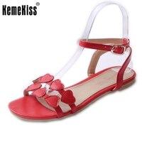 Kadınlar Düz Sandalet Marka Seksi Moda Çiçek Bohemia Hollow Out Ayakkabı Kadın Bayanlar Flip Flop Sandal Ayakkabı Boyutu 31-46 PA00744
