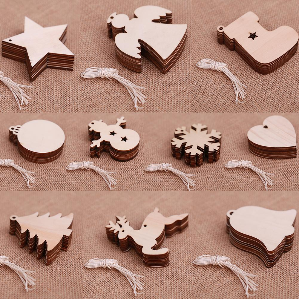 10PCS Of Christmas Snowman Ball Snowflake Elk Home Tree Decoration Ornament DIY Small Pendant