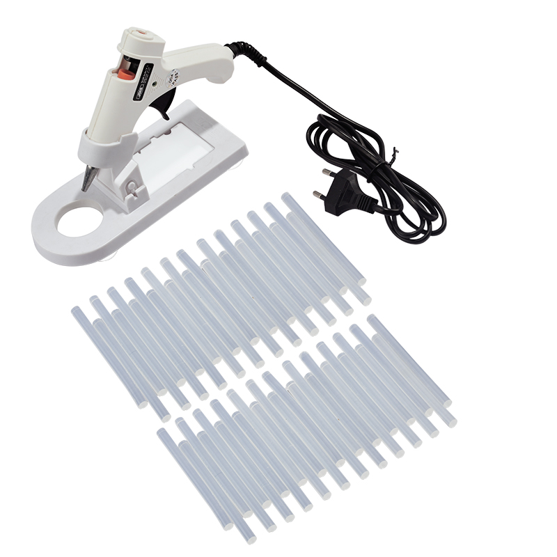 20W High Temperature Heater Hot Melt Gun With 50pcs 7x100mm Glue Sticks Graft Tool Repair Handy Hot Silicone Glue Gun Buttstock