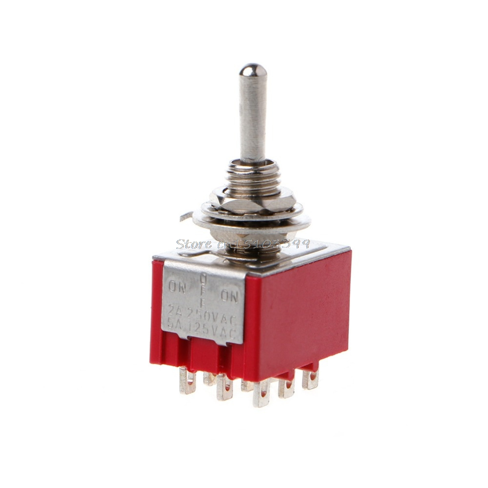 Red 9 Pin On Off 3 Position Mini Toggle Switch Ac 6a 125v 3a 250v Push Button Onoff Soft Latch Circuits Battery Powered Touch Electrical Equipment Supplies Switches G08 Drop Ship In From Lights Lighting