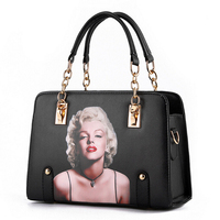 Marilyn Monroe Pattern Women Bags Lady Handbags Brand Design Cross Body Zipper Shoulder Bag Female Messenger Envelope Tote Bags