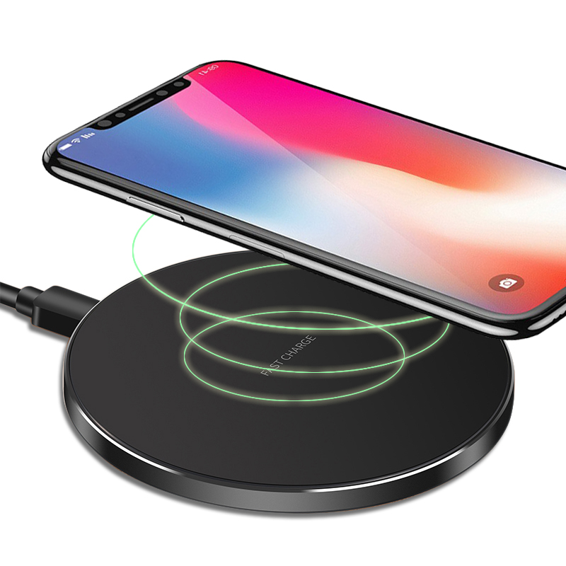 CHUNFA Qi Wireless Charger for iPhone 8 8 Plus Dock Station Black Qi Wireless Charging MOBILE CHARGER for iPhone X Adapter