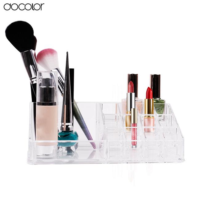 Caixa de Armazenamento De maquiagem Organizador Maquiagem Acrílico Titular de Cosméticos Ferramentas de Maquiagem Caixa de Armazenamento Organizadora Organizador Escova