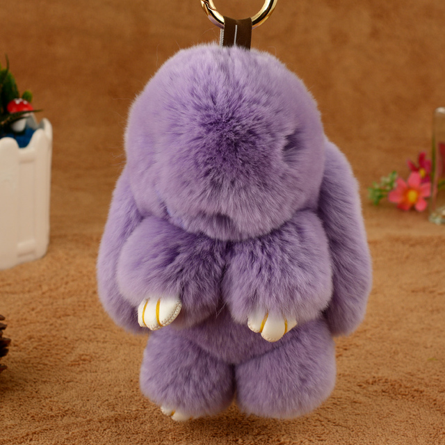 Chave fivela feminino Coreano bonito coelho de pelúcia boneca de coelho super sacos pingente Keychain chave do carro ornamentos