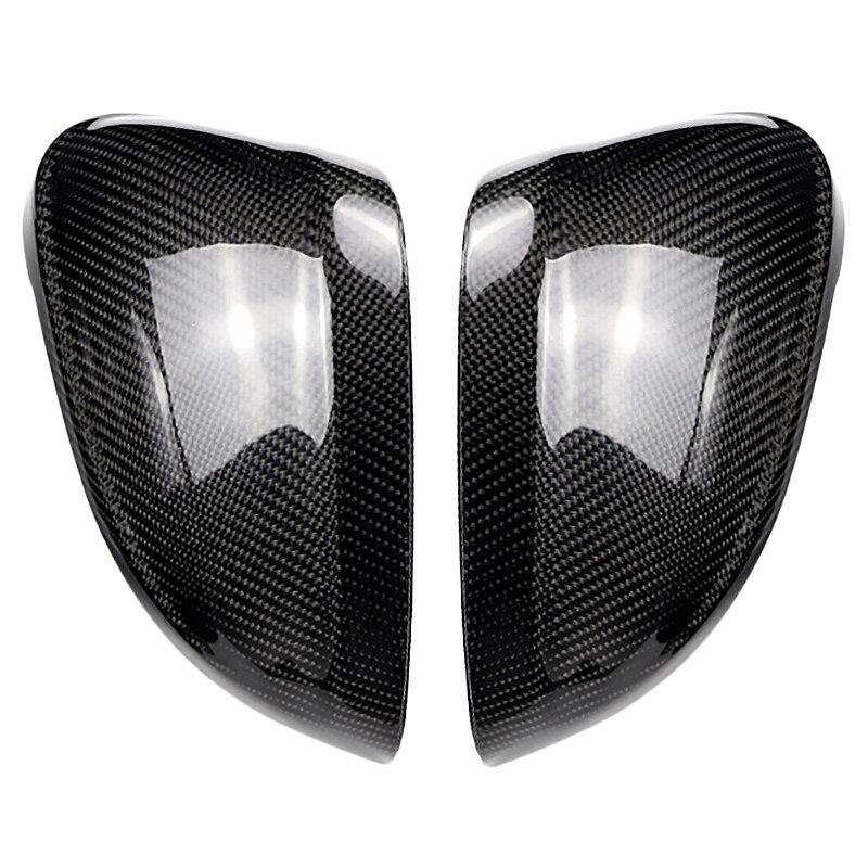 Pour Audi A4 B9 16-19 A5 B9 17-19 fibre de carbone côté aile miroir couvre casquettes remplacement décoration