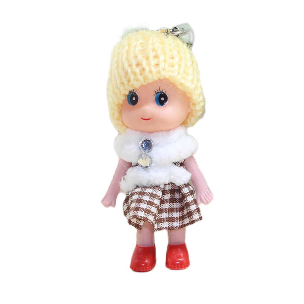 1/6 pcs Miúdos Bonitos Bonecos de Pelúcia Chaveiro Mini Plush Animais Chaveiro Chave Da Cadeia de Brinquedos de Pelúcia Macia Do Bebê Para meninas Mulheres Presente