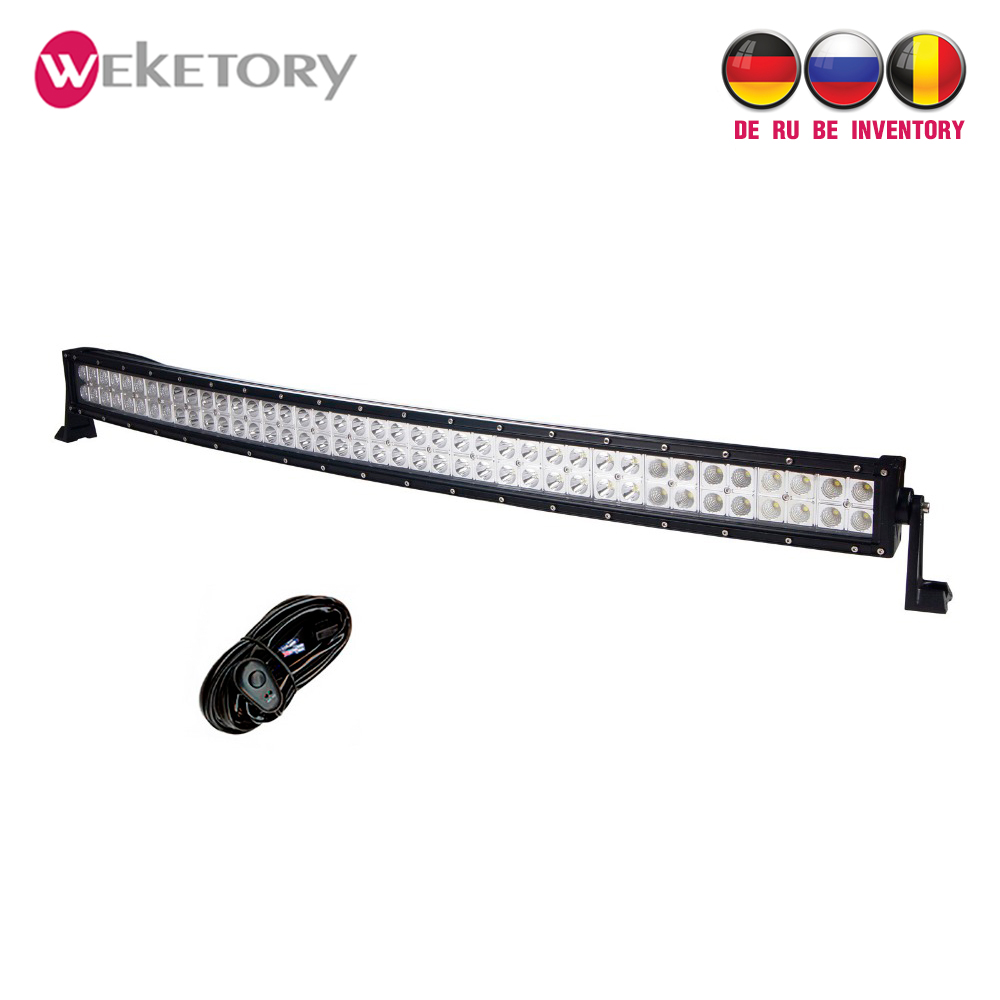 weketory 42 inch 240w curved led light bar for work driving boat car truck 4x4 suv atv off road