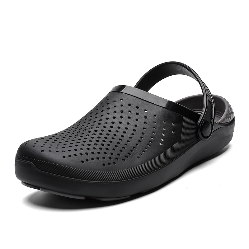 2019 sandals slippers Men's shoes Beach slippers Lightweight large size hole shoes fashion summer new footwear for male(China)
