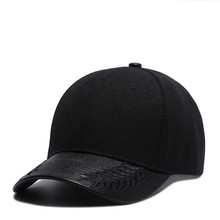 High Quality Black Baseball Cap Men Women Solid Color 54~60cm Adjustable