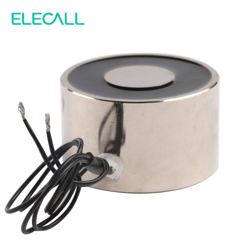 Hot 24V DC Electric Lifting Magnet Holding Electromagnet Lift 11W 60Kg Solenoid ELE-50/30 24v 40kg 88lb 49mm holding electromagnet lift solenoid x 1
