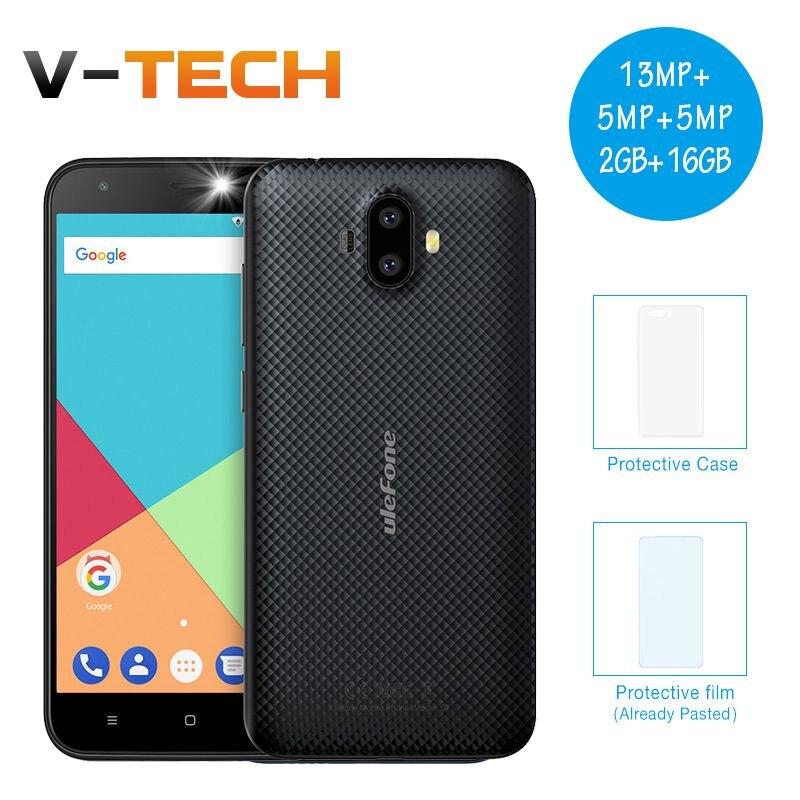 Ulefone S7 Pro 3G Smartphone 13MP Double Arrière Caméras Smartphone MTK6580 Quad Core 2 GB RAM 16 GB ROM WCDMA 5.0 HD GPS Mobile Téléphone