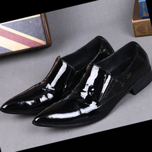 Christia Bella Genuine Leather Formal Men Shoes Italian Designer Men Dress Shoes For Wedding Business Office Black Men's Flats