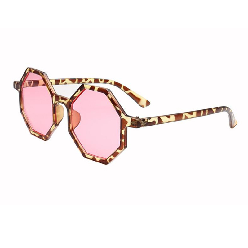 New Fashion Unisex Sunglasses For Men Women Spectacles Octagon Round Frame Sun Glasses Leopard Zebra Print Shade Oculos Gafas in Women 39 s Sunglasses from Apparel Accessories