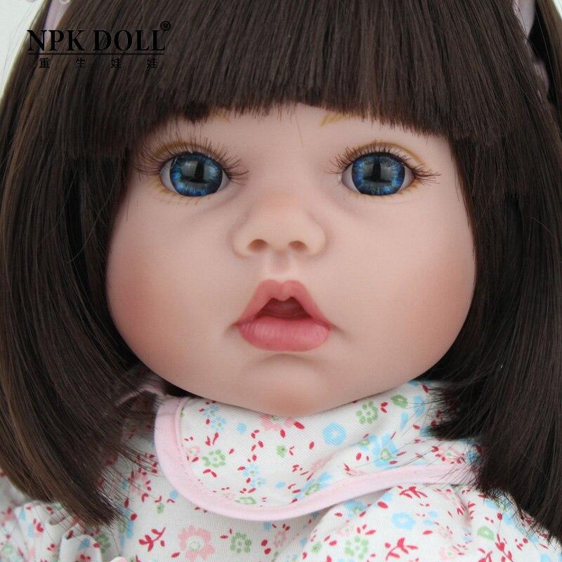 22 дюйма кукла ручной работы Reborn силиконовая виниловая Bebe куклы милая кукла девочка с одеждой медведь Menina De силиконовый детский подарок - 3